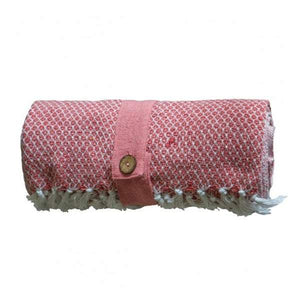 Cotton Diamond Throw Blush