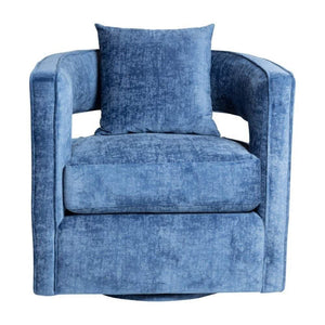 Rhonda Swivel Chair Crushed Blue