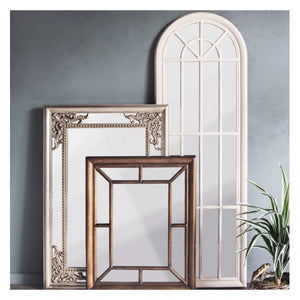 Leiden Mirror Antique White 1800x35x600mm
