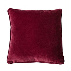 Eterno Velvet Cushion Claret
