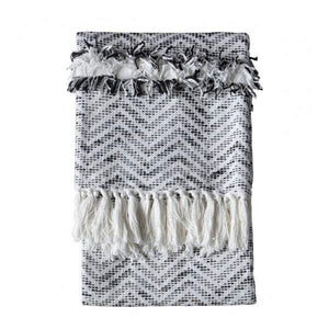 Zumba Herringbone Throw Cream/Black