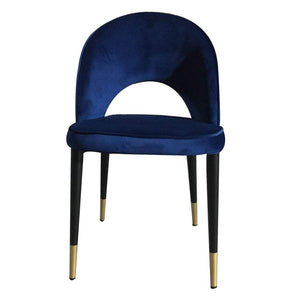Bourdain Dining Chair Navy Velvet (Set of Two)