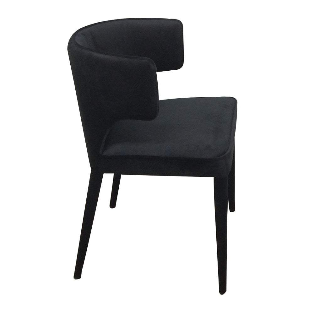 Portofino Dining Chair Black Velvet