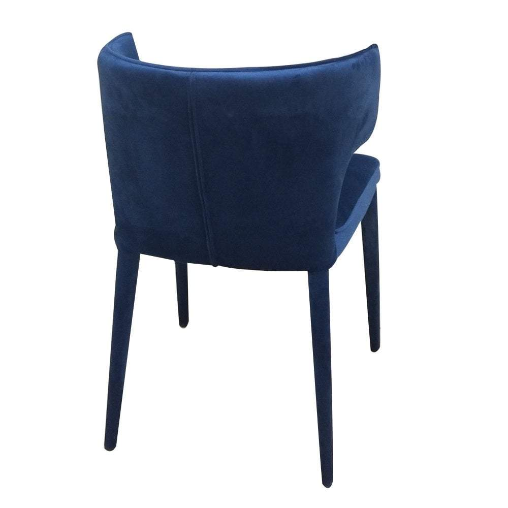 Portofino Dining Chair Navy Velvet