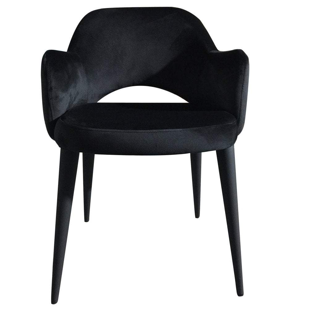 Terrazo Dining Chair Black Velvet (Set of Two)