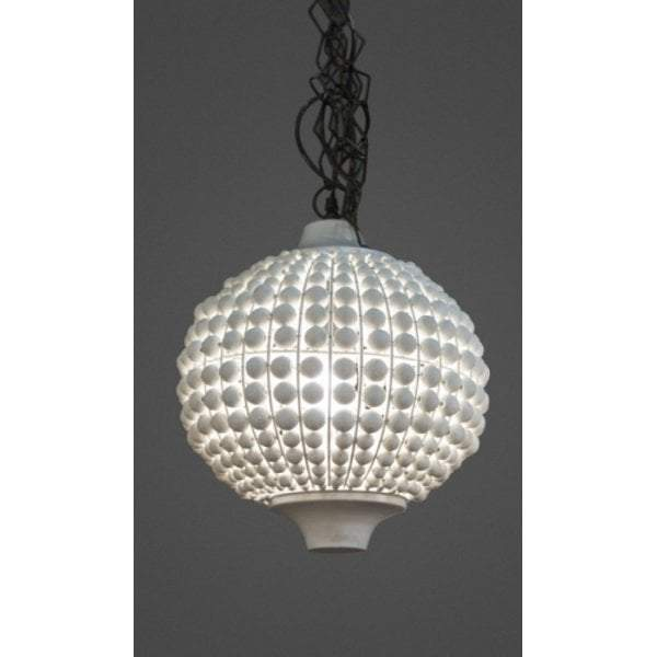 Kasbah White Beaded Hanging Lamp