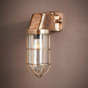 Royal London Wall Lamp Antique Brass