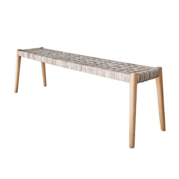 Long Island Rattan Bench - House of Isabella AU