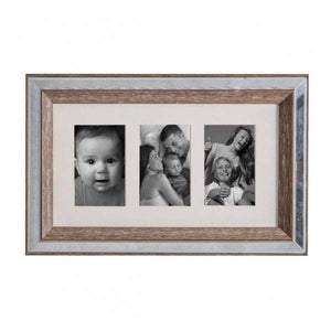 Mannon 3 Aperture Collage Photo Frame 23x42cm