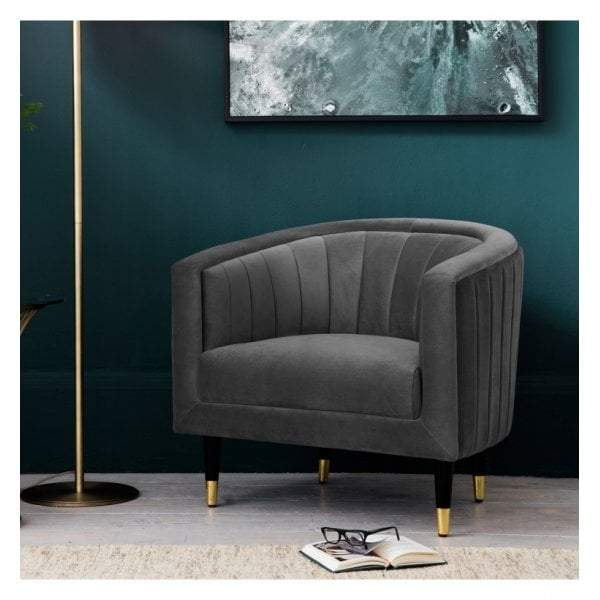 Vera Armchair Mirage Velvet - House of Isabella AU