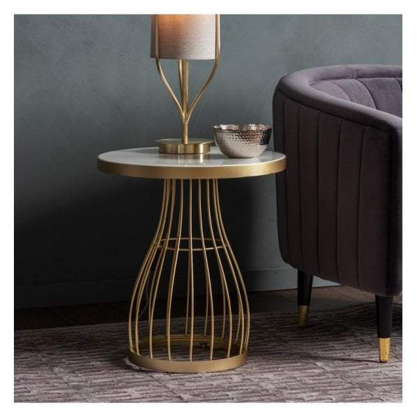 Venray Side Table Champagne