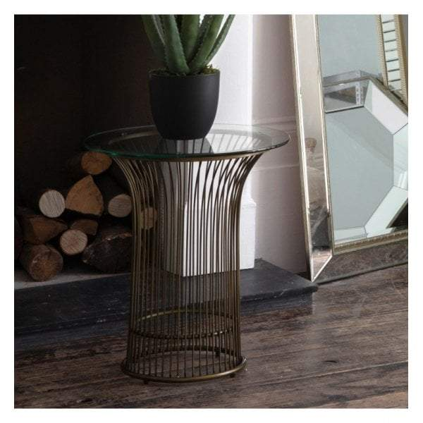 Carmine Side Table Bronze
