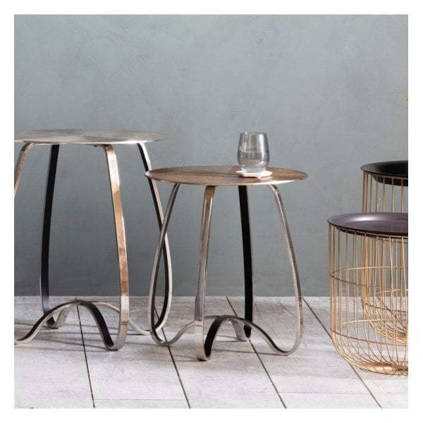Mallow Side Table Gold - House of Isabella AU