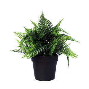 Small Potted Artificial Persa Boston Fern Plant UV Resistant 20cm