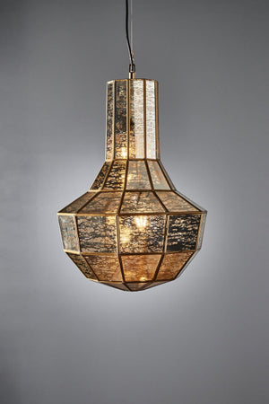 Vancouver hanging lamp in brass
