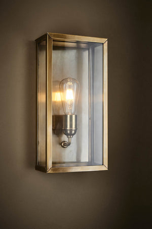 Goodman Lantern Wall Lamp in Ant Brass