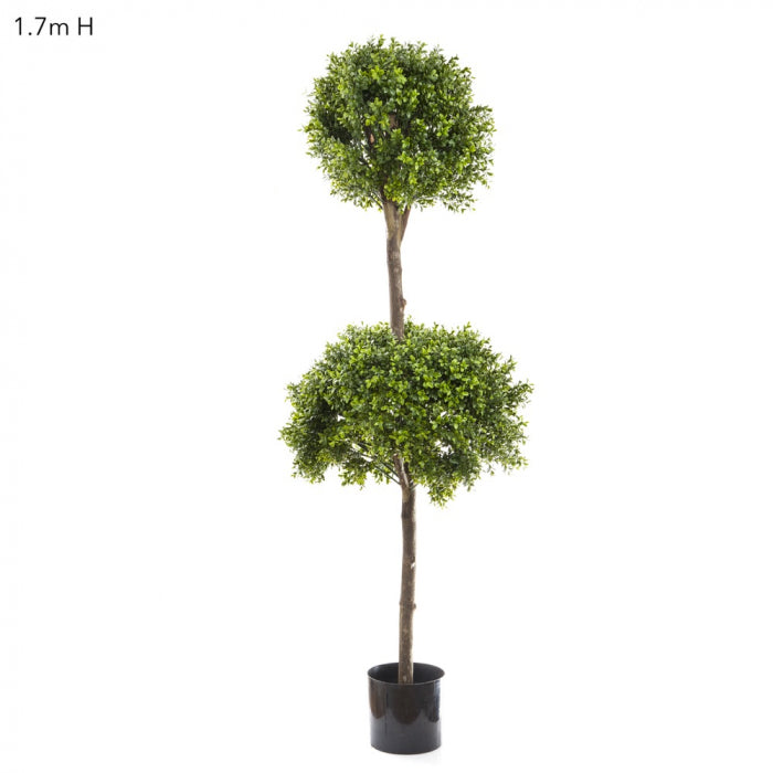 Artificial Boxwood Dbl Ball Tree 1.7m Dia60&40cm - House of Isabella AU