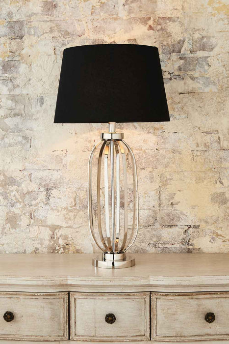 Parrot Island Table Lamp Base In Nickel - House of Isabella AU