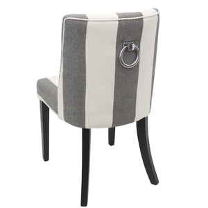 Ophelia Dining Chair Black & White Wide Stripe