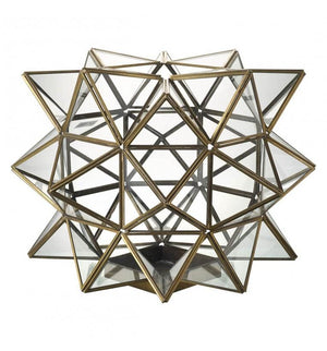 Cosmic Lantern Metal & Bronze Glass Large