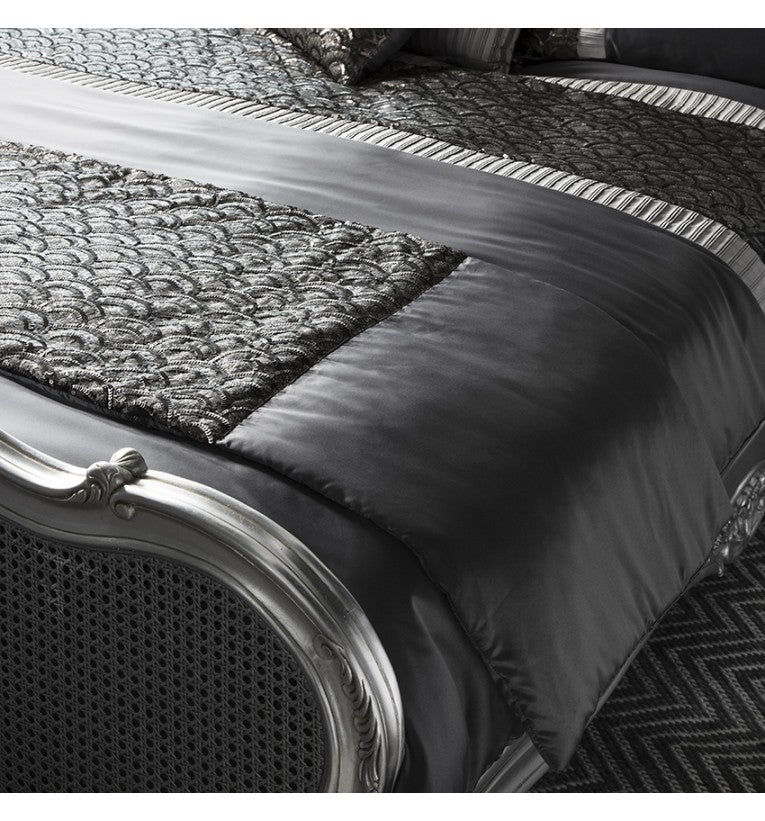 Deco Bed Runner Charcoal - House of Isabella AU
