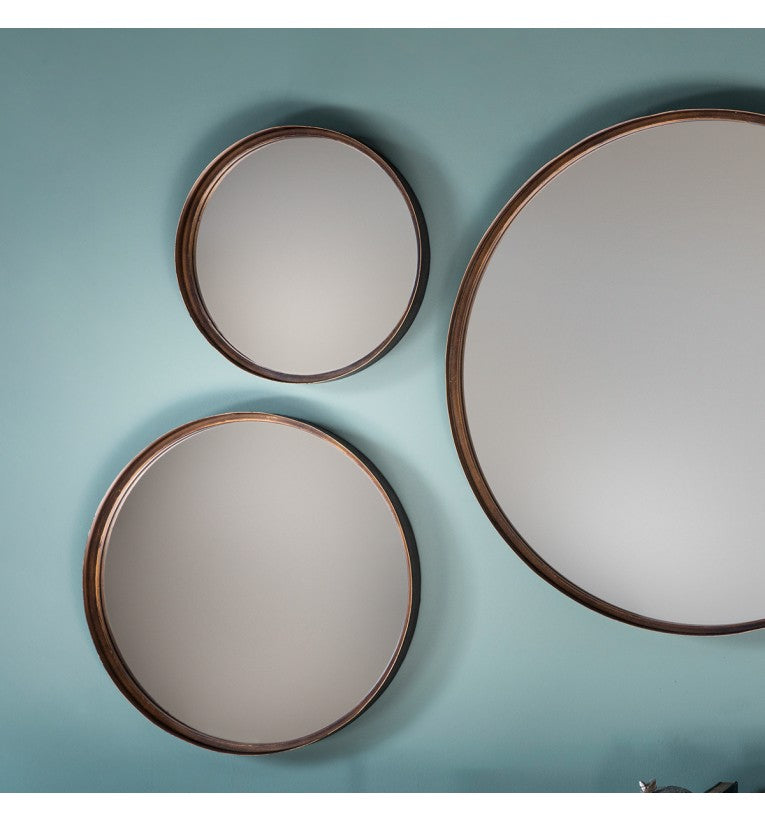 Rama Round Mirror (4pk) W305 x D40 x H305mm - House of Isabella AU