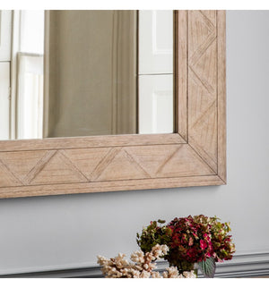 Makassar Parquet Wood Framed Mirror