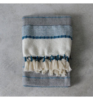 Kasbah Teal Textured Throw