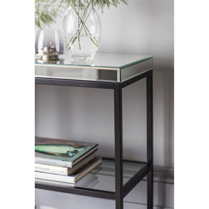 Pamplona Console Table Black W1200 x D360 x H820mm