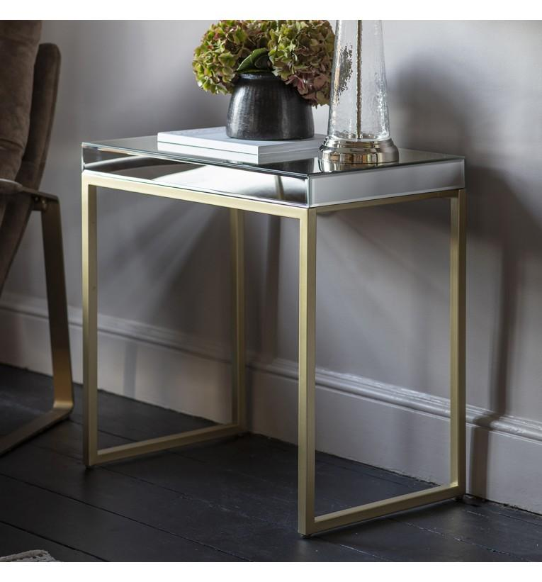Patrice Side Table Champagne - House of Isabella AU