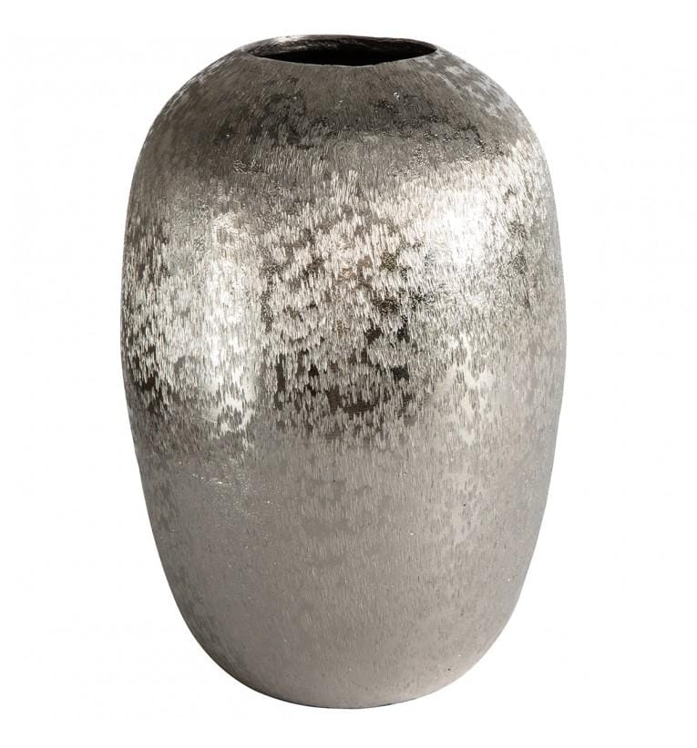Ostana Ellipse Ball Vase Silver