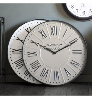 Burnett Clock White