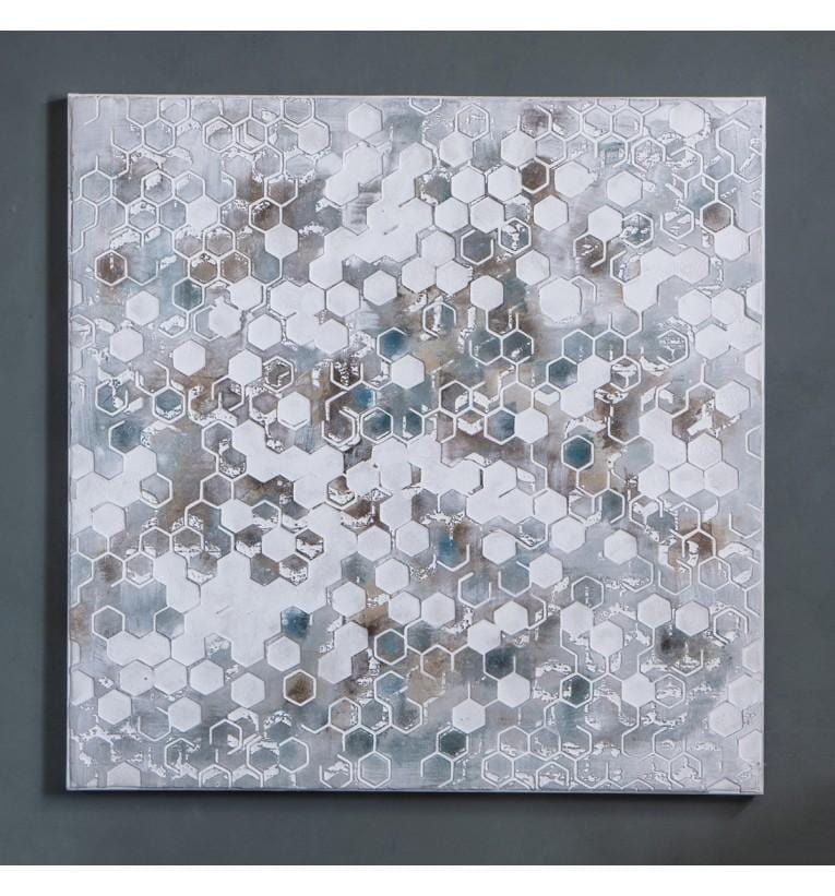 Honeycomb Textured Art Canvas