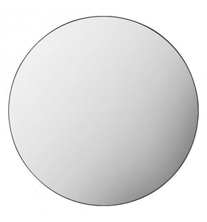 Braga Round Mirror Black