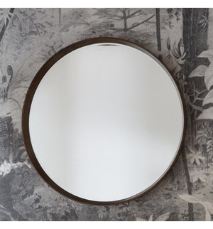Kai Round Mirror Walnut