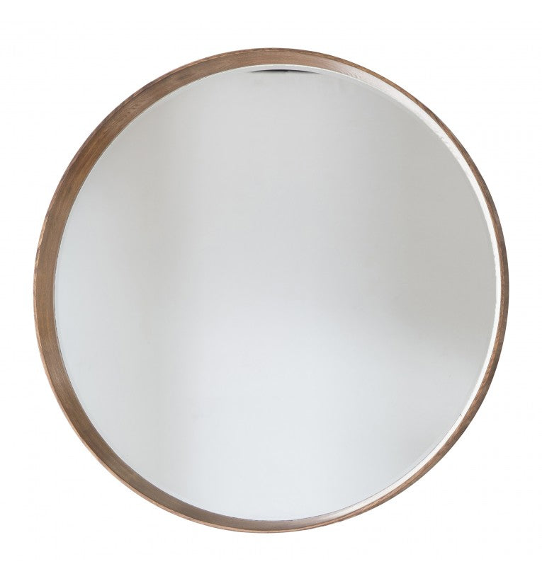 Keaton Round Mirror Oak - House of Isabella AU