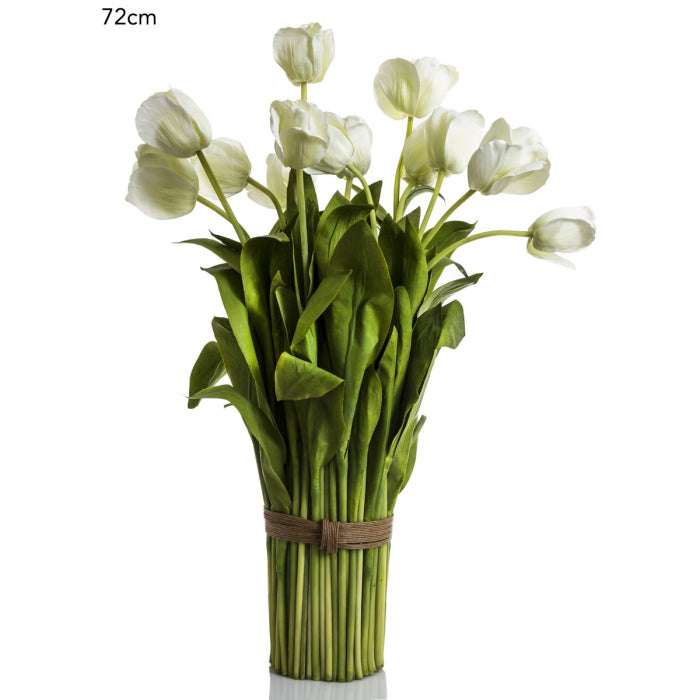 Artificial Tulip Bundle 72cm - White - House of Isabella AU