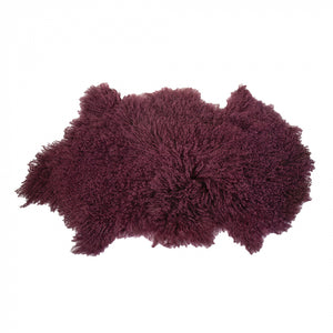 Tibetan Lambswool Throw 90x50 Mulberry