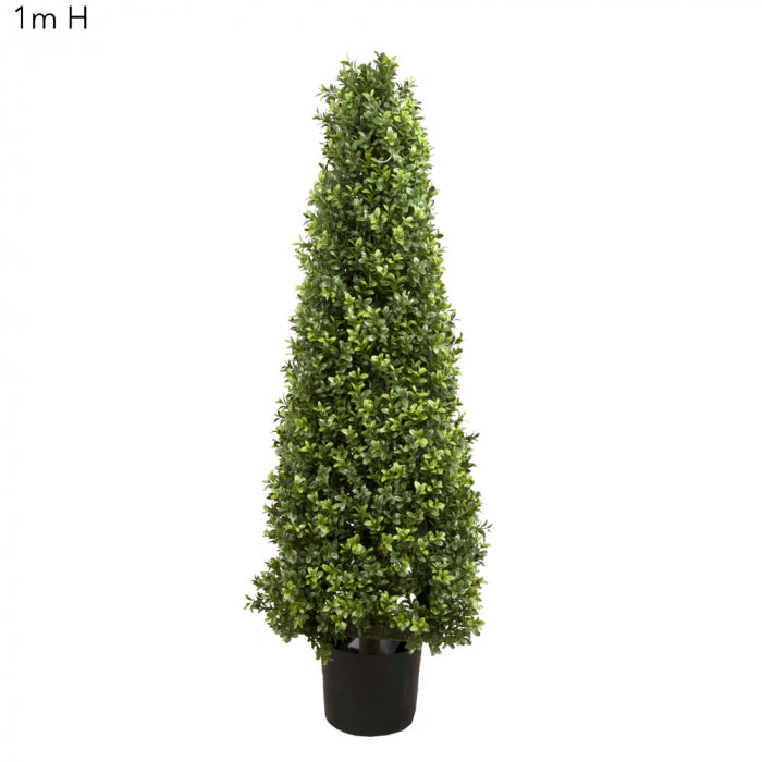 Artificial Boxwood Pyramid Tree 1m - House of Isabella AU