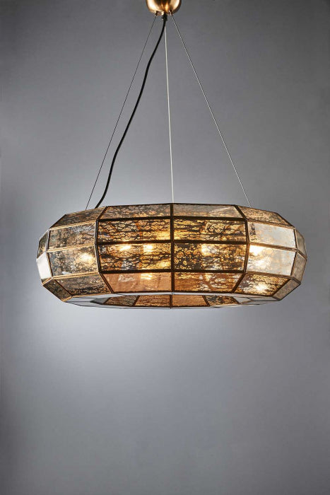 Victoria small hanging lamp in brass