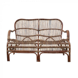 Seville Rattan 2 Seater Antique