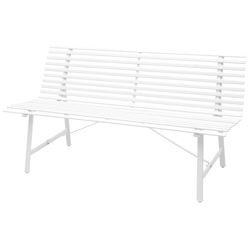 vidaXL Garden Bench 150 cm Steel White - House of Isabella AU