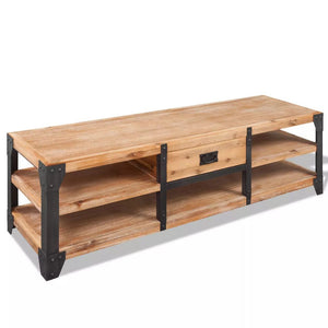 vidaXL TV Stand Solid Acacia Wood 140x40x45 cm