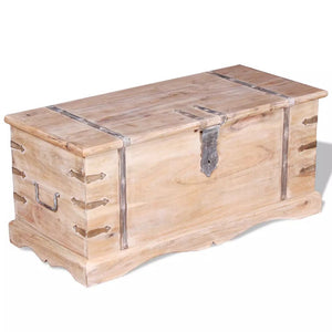 vidaXL Storage Chest Solid Acacia Wood