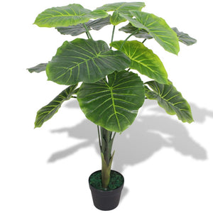 vidaXL Artificial Taro Plant with Pot 70 cm Green