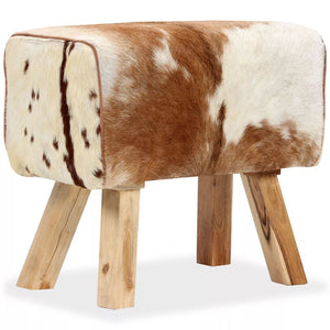 vidaXL Stool Genuine Goat Leather 60x30x50 cm