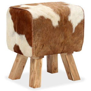 vidaXL Stool Genuine Goat Leather 40x30x45 cm