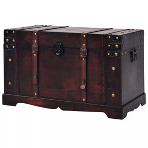 vidaXL Vintage Treasure Chest Wood 66x38x40 cm