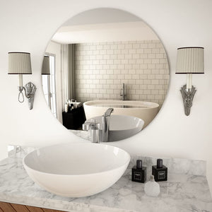 vidaXL Wall Mirror 70 cm Round Glass