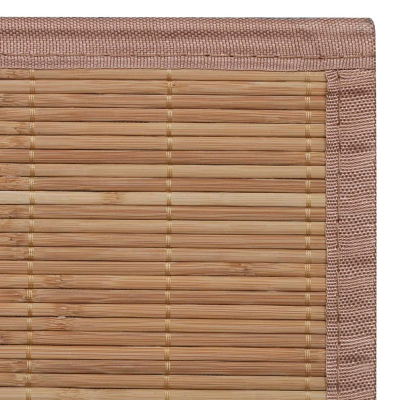 vidaXL Rug Bamboo 100x160 cm Brown - House of Isabella AU